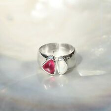 Edel Opal Ring, 925er Silber, Edelsteinring (22214), mit Turmalin