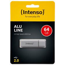 kQ Intenso USB Stick Alu Line 64 GB USB 2.0 Speicherstick silber