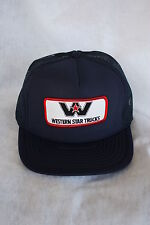 HAT WESTERN STAR TRUCKS ADJUSTABLE SNAP SIZING, WITH EMBRODERY PATCH NAVY BLUE