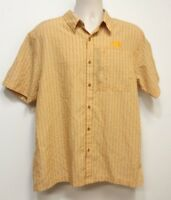 THE NORTH FACE Yellow Check Button Up Short Sleeve Men's Shirt - Large