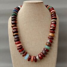 Multi Color Rondelle Disc Jasper Necklace 22""