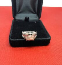 14 K White Gold Invisible Princess Cut Diamond Engagement Ring