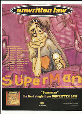Unwritten Law Superman Trade Ad Poster for S/T Cd 1996