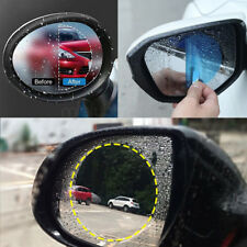 2x Car Anti Water Mist Film Anti Rainproof Fog Rearview Mirror Protective Film