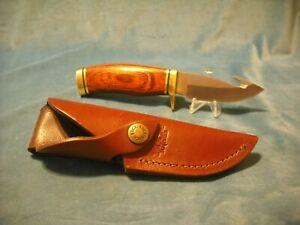 Rare, Buck 686 Mini Vanguard Zipper Knife & Sheath - Cocobola Wood- Super Nice!