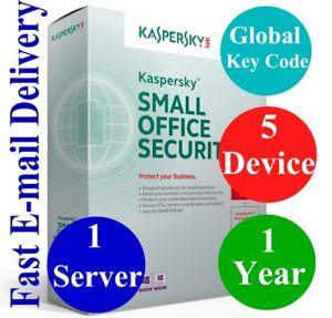 Kaspersky Small Office Security V8 1 Server/5 Dev+5 Mobile/ 1 Year Global Code