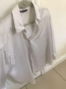 Zara Satin Shirt Medium