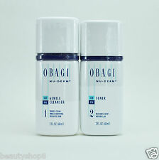 Obagi Nu-Derm Kit of 2, Normal to Dry Skin: Gentle Cleanser + Toner, TRAVEL SIZE