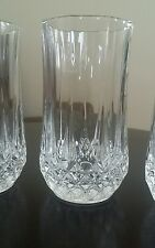 Crystal clear cut Drinking Glasses set of 4, France