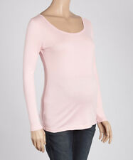 Maternity T-Shirt Size 6 Long Sleeved Top Blush Pink 100% Cotton BNWT #B-1328