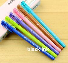 NEW 6PCS/Pack RollerBall Pens/Gel Ink Pens Korean Style- Black ink,0.5mm ZXB26