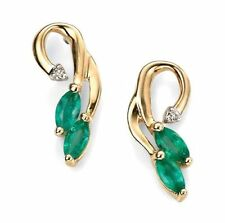 Oval Not Enhanced Emerald Fine Earrings