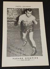 1980's LA PARADE SPORTIVE GREAT CANADIAN BOXING CHAMPION PHOTO - DAVE CASTILLOUX