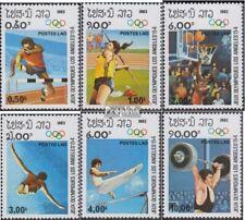 Laos 618-623 (complète edition) neuf avec gomme originale 1983 Jeux Olympiques É