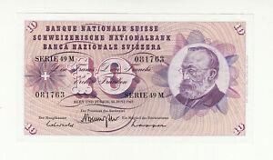 Switzerland 10 francs 1967 EF/AUNC @ low start
