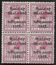Ireland 1922 SG39a 6d Reddish-Purple Block of 4 MNH Mint OG CV £56++ #17