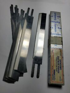 """Eastman Straight Cutting Machine 5"""" Knife Blades - 8 Pack new old stock"""