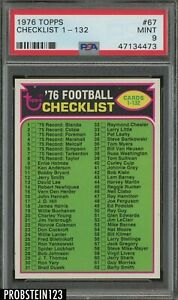 1976 Topps Football #67 Checklist 1 - 132 PSA 9 MINT
