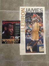 2002 Lebron James High School Magazine & Newspaper Lot