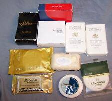 LOT OF(10)HOTEL,MOTEL, TRAVEL SIZE SOAPS~GILCHRIST&HOLMES~HUNTER~LAVARINO~HILTON