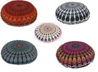 "5 Large 32"" Floor Cushion cover Mandala Throw Bohemian Indian Case Round Pillow"