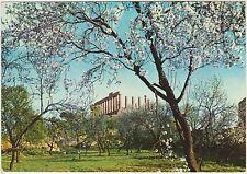 AGRIGENTO - TEMPIO DI GIUNONE DA UN BOSCHETTO DI MANDORLI IN FIORE 1957