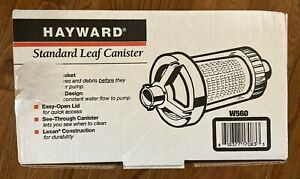 Hayward W560 No-Clog Standard Leaf Canister for Suction Pool Cleaner EUC