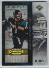 CHAD HENNE 2013 Panini Contenders SEASON Ticket CRACKED ICE /21 Jaguars