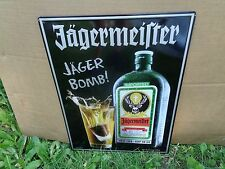 Jagermeister JAGER BOMB TIN METAL SIGN - NEW! NEAT SIGN! 13 1/2 x 18 INCHES