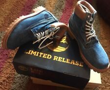"TIMBERLAND DENIM FADED JEAN BOOTS SIZE UK 6.5 EU 40 CLASSIC HERITAGE 6"" 6 7 NEW"