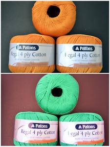4 PLY PATONS REGAL MERCERISED COTTON - choose colour