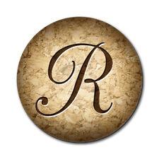 Letter R on Cork Design Mouse Pad