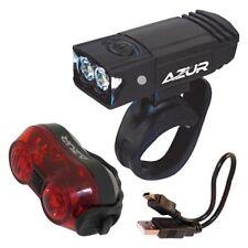 AZUR 65/30 Lumens USB Bike Light Set - Front and Rear Cycling Lights