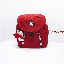 NWT Kipling KI0323 Zakaria Travel Backpack Polyamide Cherry Red Varsity Strap
