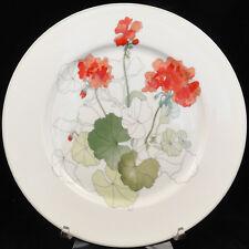 "GERANIUM by Block Spal Salad Plate 8"" diameter NEW NEVER USED Porcelain Portugal"