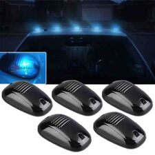 5X Smoked Lens Cab Roof Marker Running Lamps Ice Blue Bulb LED Lights Fits Truck