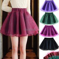 New Organza Women's Pettiskirt Tutu Adult Ballet Mini Skirt Dance Dress OK