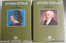 I DOCUMENTI STORIA D'ITALIA 5 A CURA RUGGIERO ROMANO CORRADO VIVANTI EINAUDI 73
