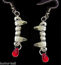 New True Gothic VAMPIRE BLOOD FANGS EARRINGS Halloween Cosplay Costume Jewelry-S