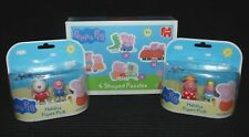 Figura De Vacaciones Peppa Pig 2 X Paquetes & una caja sellada de 4 En Forma De Rompecabezas Nuevo Y En Caja