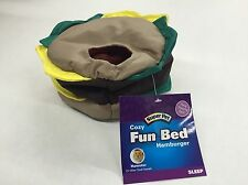 Super Pet Hamburger Fun Bed for Hamster Gerbil or Other Small Animal (New)