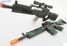 2x Toy Guns Electronic Special Forces Rifle & Friction M-16 Machine Gun Set