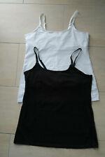 !!! MAMA 2 X Stilltops von H&M Still-Unterhemden Hemdchen Gr. L schwarz/weiß !!