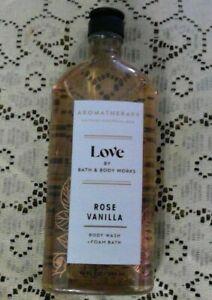 ✨ LOVE ROSE VANILLA BODY WASH & FOAM BATH Full Size 10 fl oz Bath & Body Works ✨