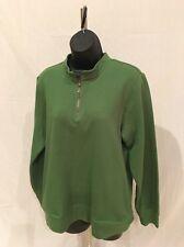 Orvis Women's Quarter Zip Green Pullover Size Small Long Sleeve Cotton Blend