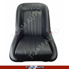 Classic Low Back Black Leather Car Bucket Seats - Mini Cooper