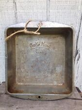 8 X 8 X 2 Vintage Cake Pan Bake-King the King of Bakeware  No. H228 Country Farm