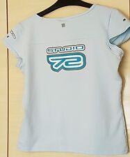 Womens Blue Nike Dri Fit Running / Gym T-shirt Size Large Studio 72