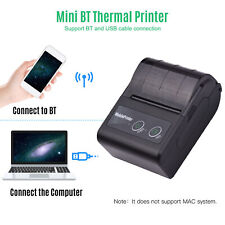 Handheld 58mm Wireless BT Thermal Printer Receipt Mobile ESC/POS Printing J4H9