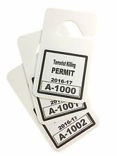 Terrorist Killing Permit (REAR VIEW MIRROR HANGER) Morale novelty item